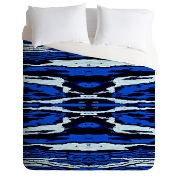 Caleb Troy Royal Coal Splinters Duvet Cover