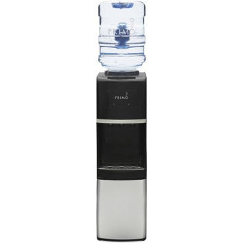 Stainless Steel/Black Top-Load Hot and Cold Water Dispenser