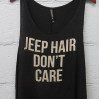 Jeep Hair Don't Care Tank Top (Black)