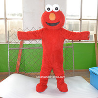 Sesame Street Elmo Mascot Costume,Cosplay Costume,Halloween Costume,Party Costume,Clothing,Adults Costume,Christmas Costume,Elmo Cosplay
