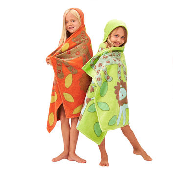 Kids Organic Hooded Towel - Jungle Collection