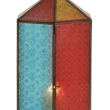 Brighten up with metal glass lantern