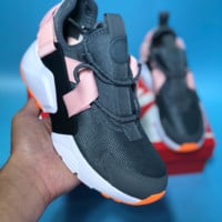 DCCK N500 Nike Air Huarache 5 City Low Prm Just Do It Running Shoes Black Pink Orange