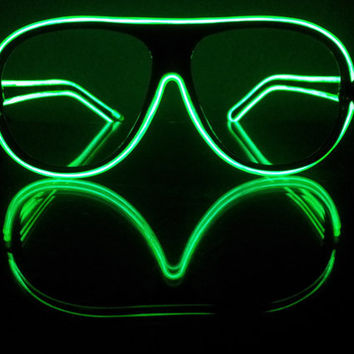 Custom made one of a kind raver sunglasses with lights
