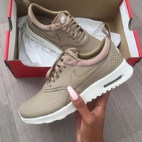 Nike Air Max Thea Premium Desert Camo Casual Sports Shoes Golden