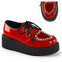 "Creeper 108 2"" Platform Red Patent Heart Window Oxford Woman's 6-11"