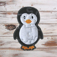 Kids Felt Puzzle - Penguin - Toddler Shape Puzzle - Kids Educational Toy - Learning - Travel Quiet Toy