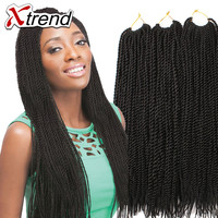 Havana Mambo Twist Crochet Braids Hair 18'' 30roots Ombre Senegalese Twist Hair Synthetic Jumbo Crochet Braiding Hair Extensions