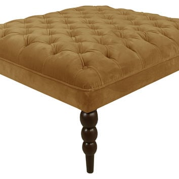 Dean Tufted Cocktail Ottoman, Moccasin, Ottomans