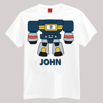 Transformers Soundwave Personalized Shirt Your Name On Shirt Headless Shirt Cartoon Body Shirt
