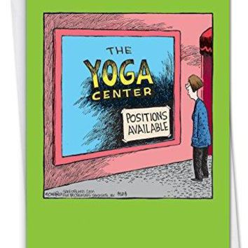 Yoga Center: Hysterical Birthday Greeting Card, Funny Birthday Card - Free Shipping