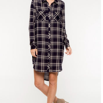 Mad about Plaid button up Dress