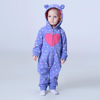 Orangemom official store 2018 spring baby rompers soft fleece baby girl clothes , one- pieces girls coat 1-2Y baby clothing set