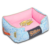 Pet Life Rose-Pedal Patterned Premium Rectangular Dog Bed