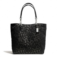 MADISON NORTH/SOUTH TOTE IN CHENILLE OCELOT