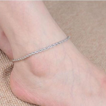 Shiny Jewelry Ladies New Arrival Gift Cute Fashion Accessory Stylish Sexy Simple Twisted Chain Anklet [6768757895]