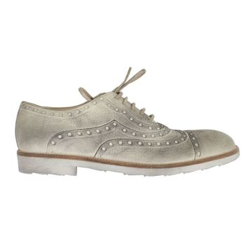 Dolce & Gabbana Beige Leather Wingtip Shoes