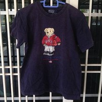 Vintage Polo Sports Bear Basketball Ralph Lauren t shirt youth size
