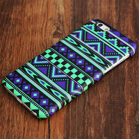 Green And Violet Aztec Ethnic iPhone 6 Plus 6 5S 5C 5 4 Protective Case #444