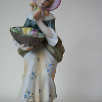 "Hard Find Lefton China ""Victorian Woman"" 1950's Figurine No. KW375 Hand Painted"