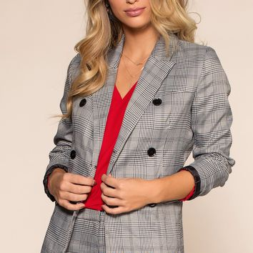 Good Girls Go Plaid Blazer