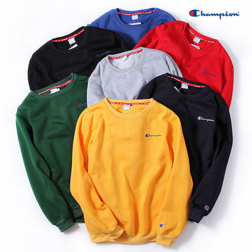 Couple Winter Men's Fashion Long Sleeve Embroidery Hoodies [10277045511]