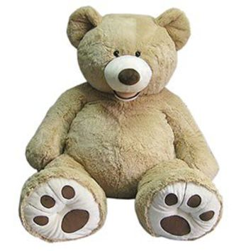 "Costco - 53"" Sitting Plush Bear - Blond customer reviews - product reviews - read top consumer ratings"