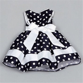 Flower Girl Kids Toddler Baby Polka Dot Princess Party Wedding Formal Tutu Dress