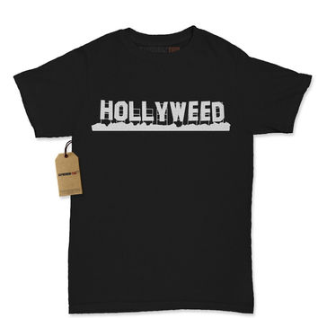 Hollyweed - Hollywood Sign Vandalized Womens T-shirt