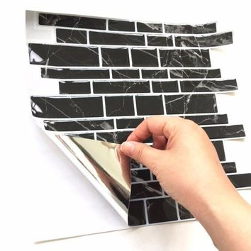 Mosaic Tile Wall Sticker Diy Kitchen Bathroom Back
