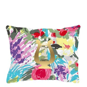 Floral Pillow - Greek Sorority by Antique Garden