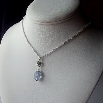 Mystic Quartz Pendant Necklace, Bridesmaid Gift, Gemstone Necklace, Christmas Gifts, Silver