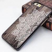 iPhone 6/6S soft case,art wood flower image iPhone 6/6S plus case,mandala flower iphone 5s case,wood grain flower iphone 5c case,fashion iphone 5 cover,personalized iphone 4s case,latest design iphone 4 case