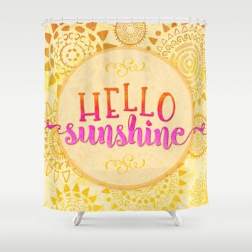 Hello Sunshine Shower Curtain by Noonday Design