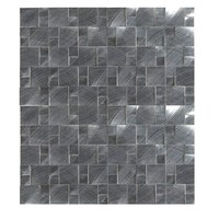 MS International Silver Aluminum Pattern 12 in. x 12 in. x 8 mm Brushed Metal Mesh-Mounted Mosaic Tile-MET-SLVAL - The Home Depot