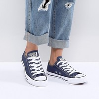 Converse Chuck Taylor Low Sneakers In Blue at asos.com