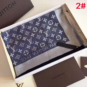 LV Classic Hot Sale Popular Women Men Louis Vuitton Easy To Match Cashmere Cape Silk Scarf Scarves Shawl