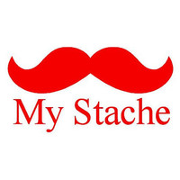 My Stache - Vinyl Mustache Decal - RED