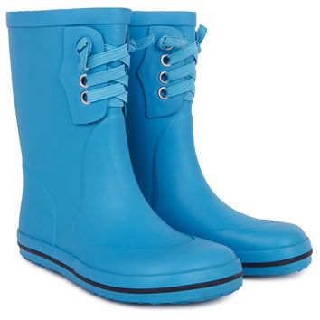 Turquoise Rubber Welly Boot