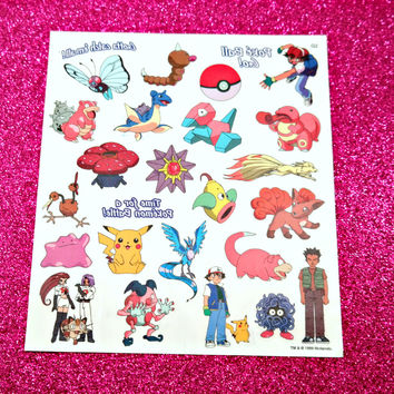 VINTAGE Pokemon Tattoo's - Ash Pack