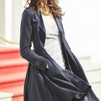dRa Fayette Trench in Navy Size: