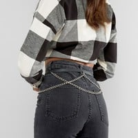 Reclaimed Vintage Leather Chain Belt at asos.com