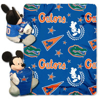 Florida Gators NCAA Mickey Mouse with Throw Combo