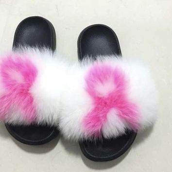 Breast cancer fox fur slides