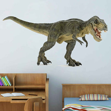 dinosaur wall Decals Tyrannosaurus wall Decals dinosaur wall decor dinosaur Full Color wall Decals for nursery for Boy's Room kids cik2251