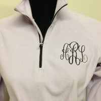Monogrammed quarter zip pullover by CheeksLittleBoutique on Etsy