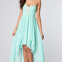 High Low Strapless Dress by City Triangles