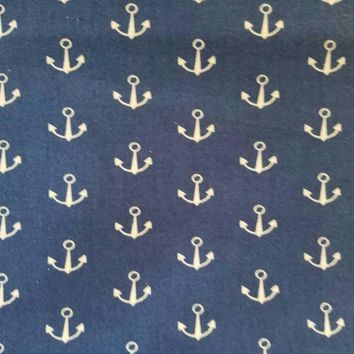 Anchor - anchors - nautical - boat - print - vintage -  quilting - cotton  - fabric