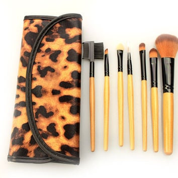 7Pcs Beauty On Sale Hot Deal Make-up Hot Sale Makeup Brush Sets Leopard Make-up Brush [9647072463]