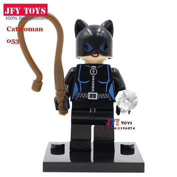 Single Sale Catwoman Selina Kyle Batgirl Batman DC Comics Super Heroes The Building Blocks Kids Toys brinquedos menino